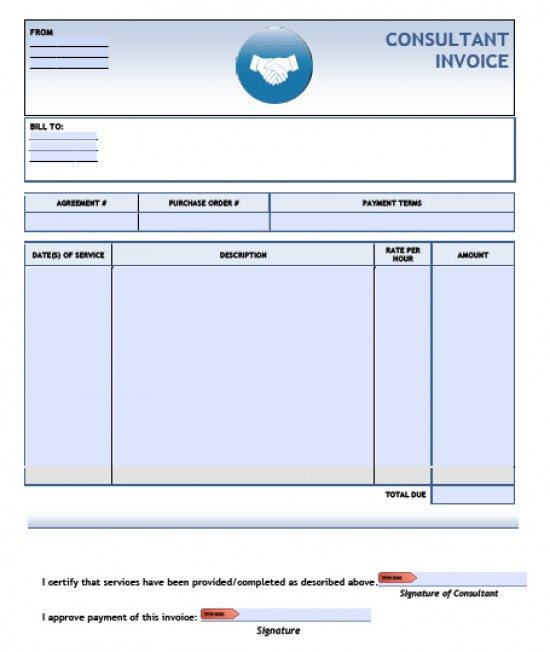 Free Consulting Invoice Template Excel PDF Word (doc) - it invoice template
