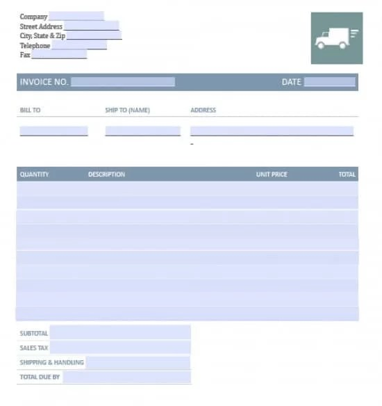 Free Freight\/Trucking Invoice Template Excel PDF Word (doc) - ms custom invoice template