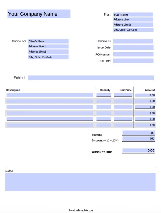 blank tax invoice template | timeline template visio, Invoice templates