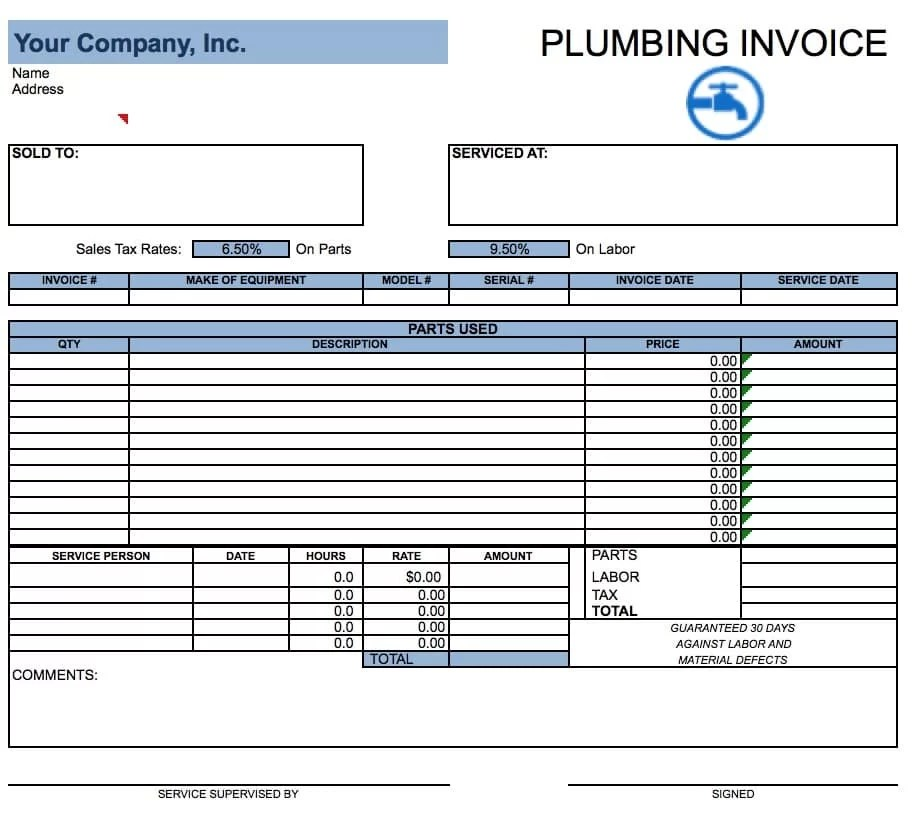 excel invoice template - ms custom invoice template