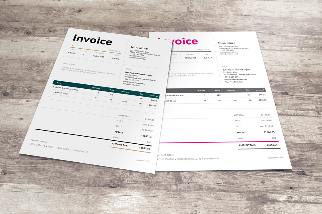 Smart Invoice Template - Bella