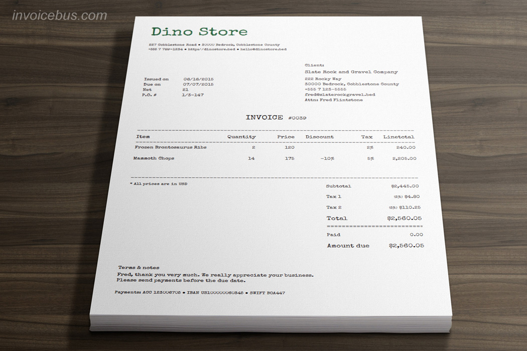 invoices templates