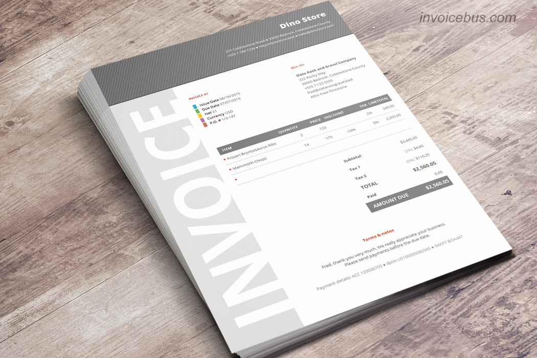 Best Invoice Templates