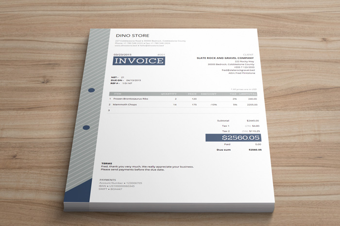 Corporate Invoice Template - Easy