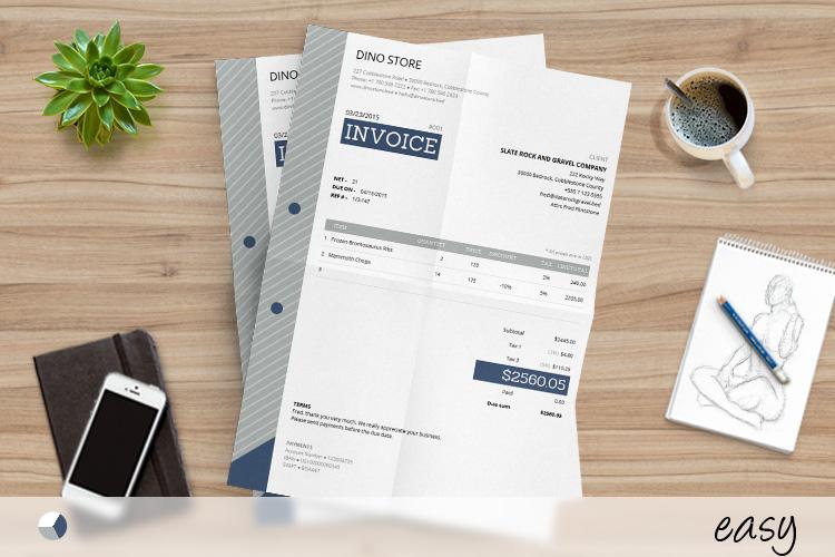 Corporate Invoice Template - Easy