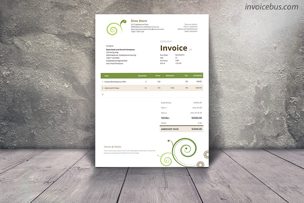 Clean Invoice Template - Daisy