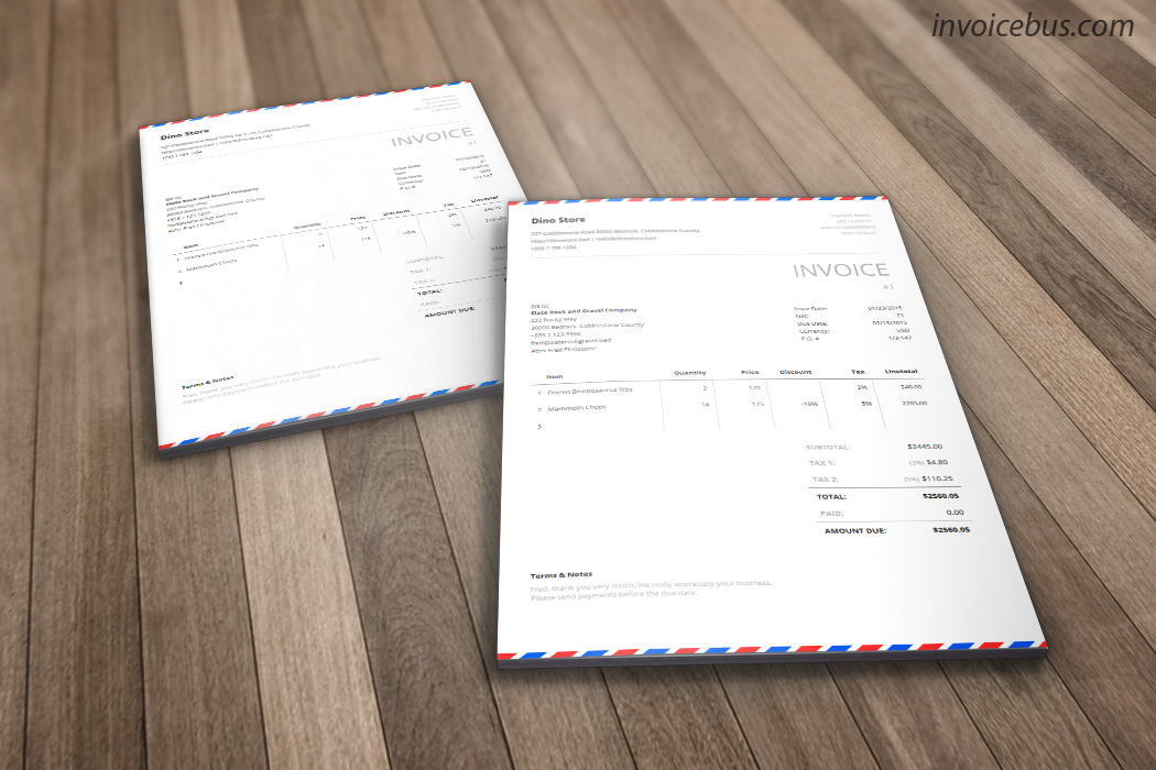 Envelope Invoice Template - Postal - generic invoice