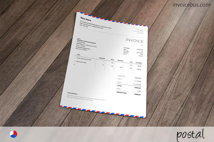 Envelope Invoice Template - Postal - generic invoice template