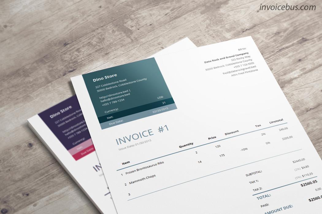 Professional Invoice Template - Loretta - professional quotation template