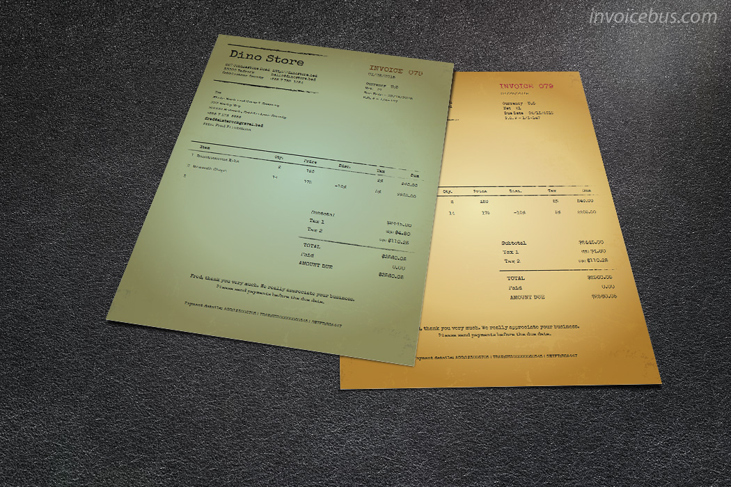 simple invoices template