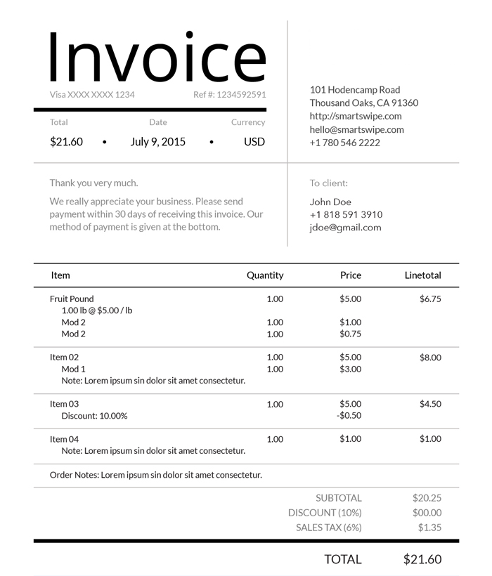 Free Invoice Templates  Software Recurring Invoicing Tool - free invoice.com