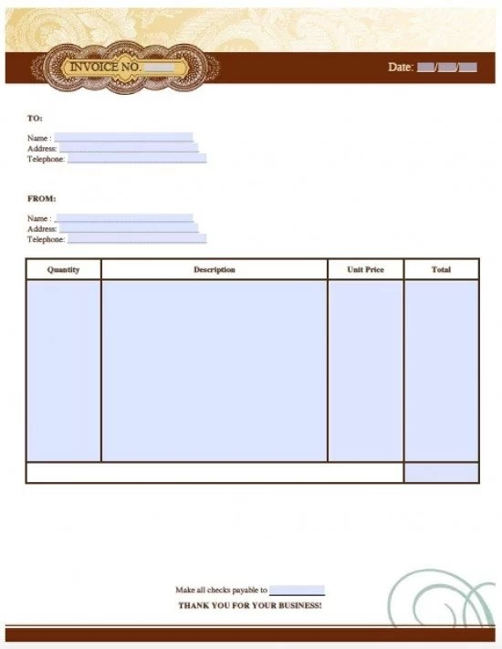 Free Artist Invoice Template Excel PDF Word (doc) - Musician Invoice Template