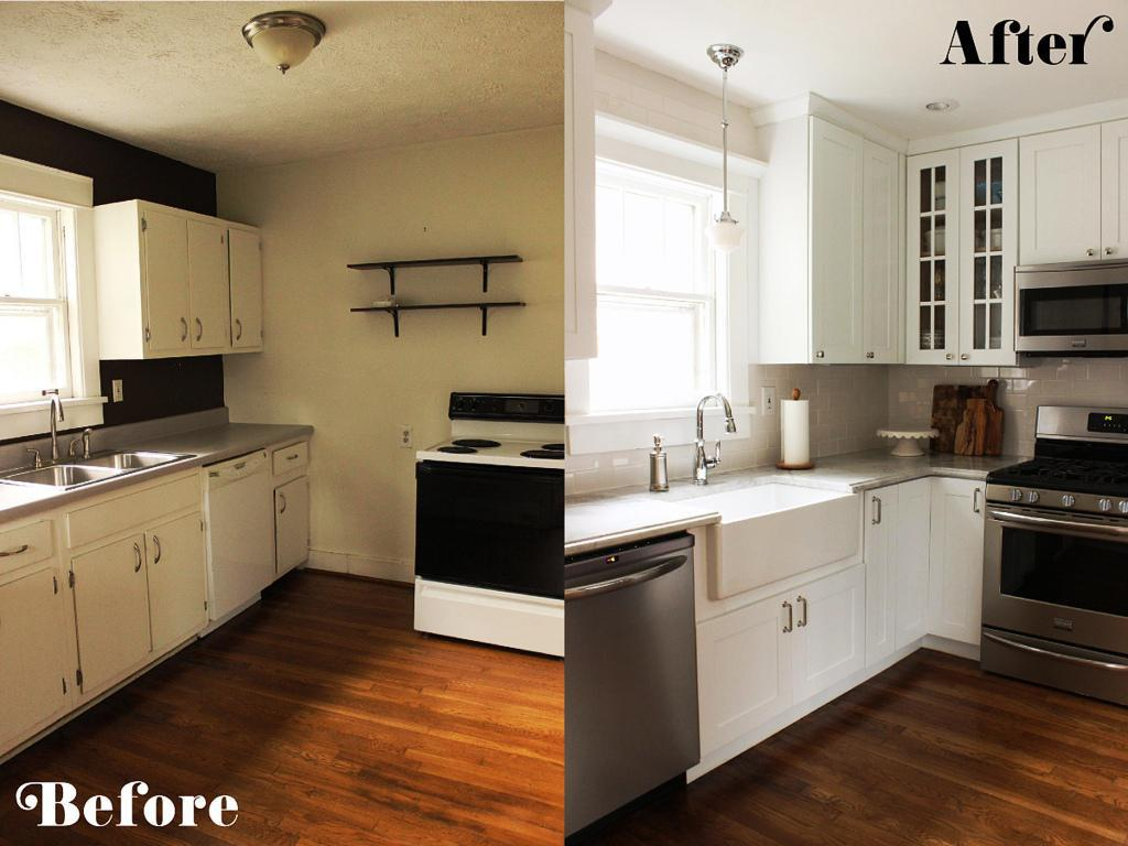 small kitchen diy ideas before after remodel pictures of tiny kitchens small kitchen remodel Tiny Kitchen Remodel Ideas Stunning difference in the before and after pictures of this small