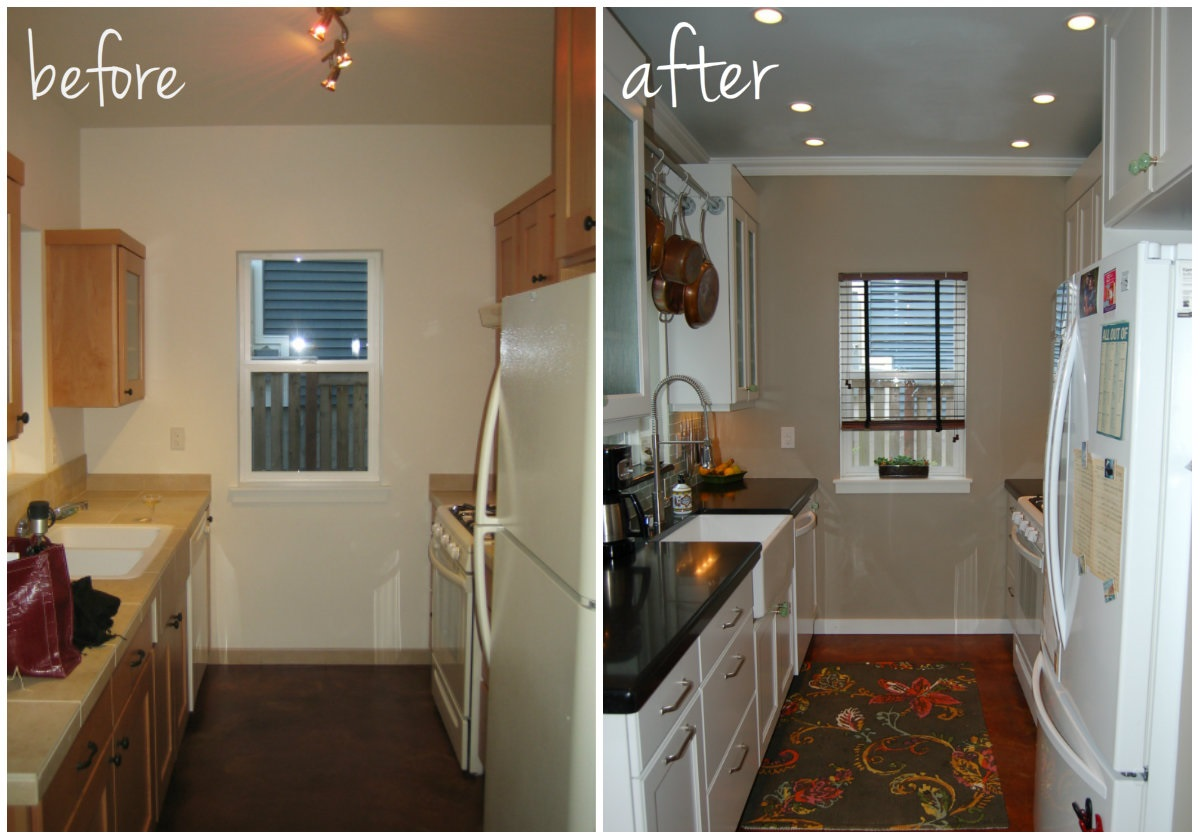 small kitchen diy ideas before after remodel pictures of tiny kitchens diy kitchen remodel Small Kitchen DIY Makeover remodel idea before and after pictures
