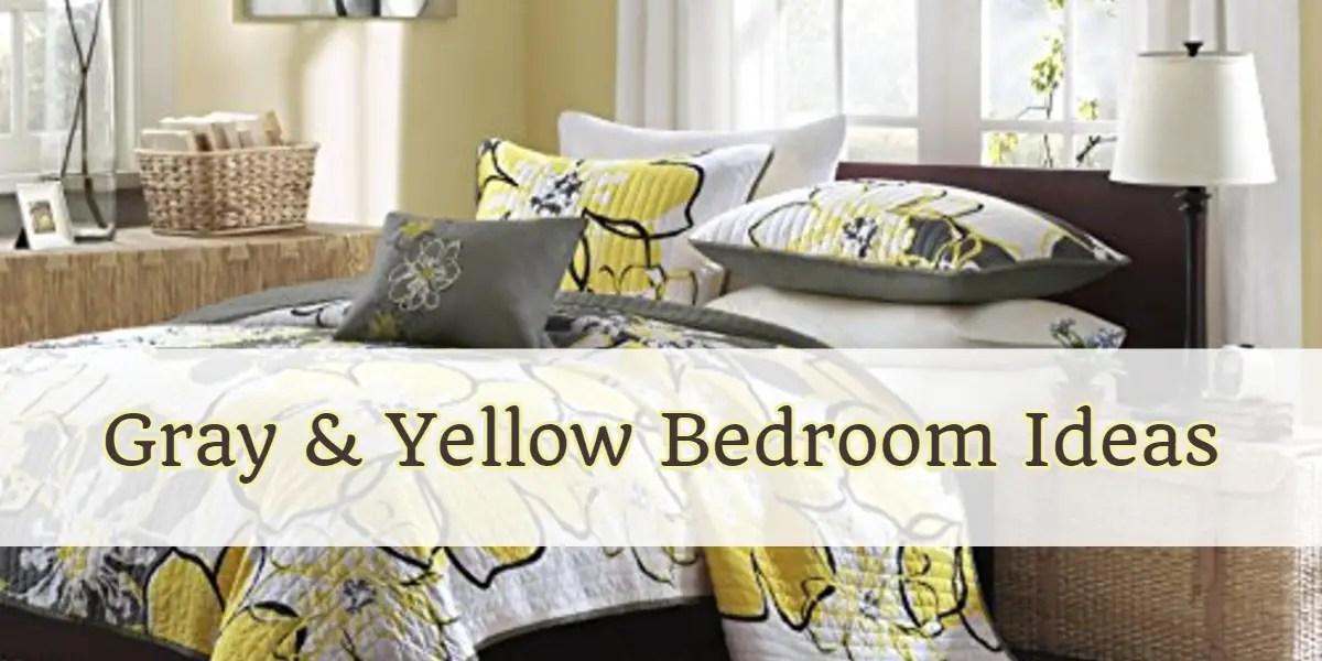 Gray and Yellow Bedding \ Bedroom Decor Ideas We Love - Involvery