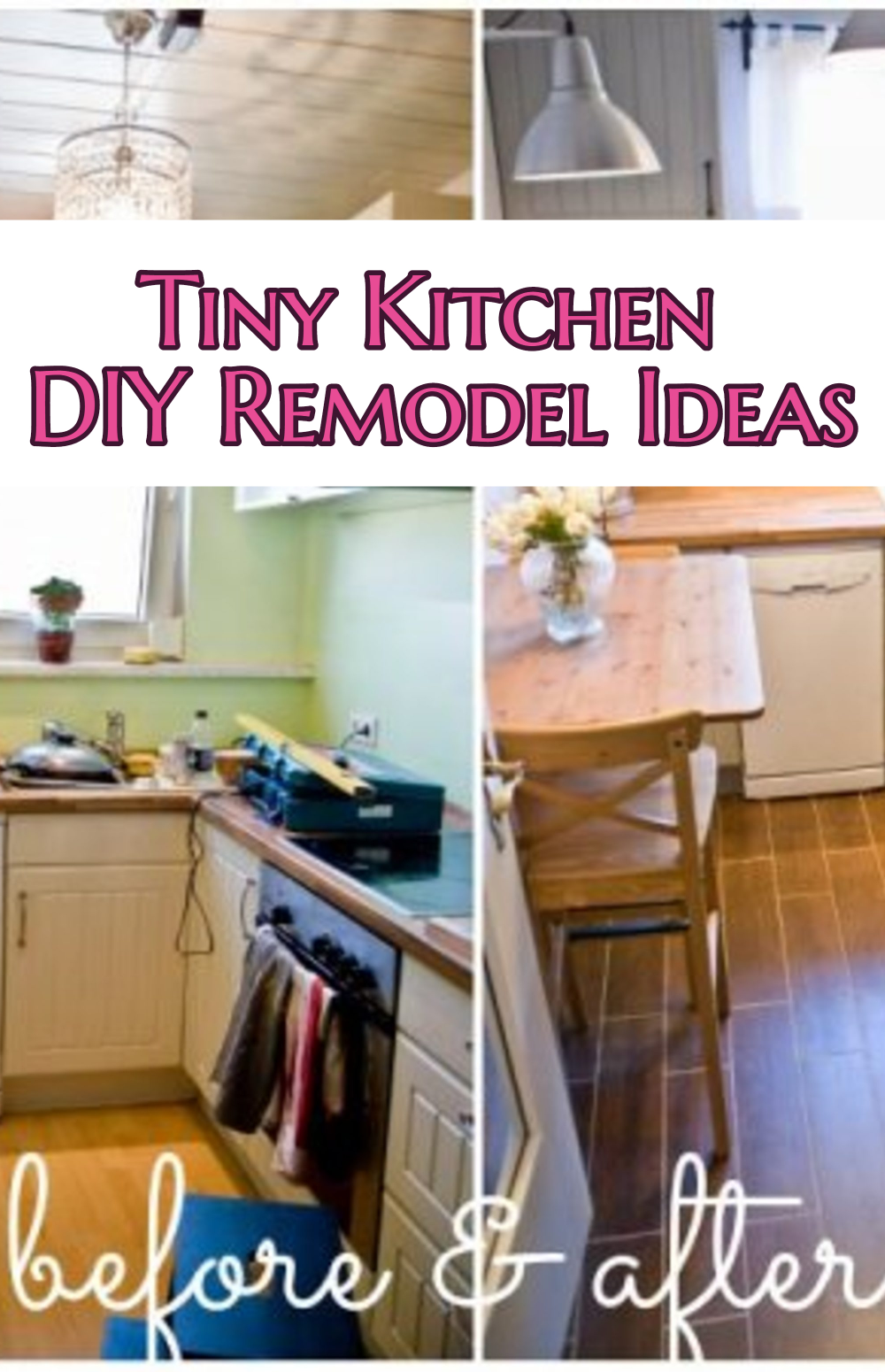 small kitchen diy ideas before after remodel pictures of tiny kitchens small kitchen remodels Small Kitchen Ideas DIY Tiny Kitchen Remodel results before and after Great ideas for