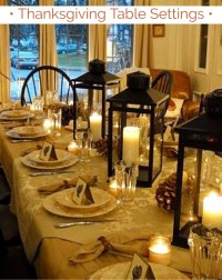 {Thanksgiving Table Settings}  DIY Ideas for Your ...