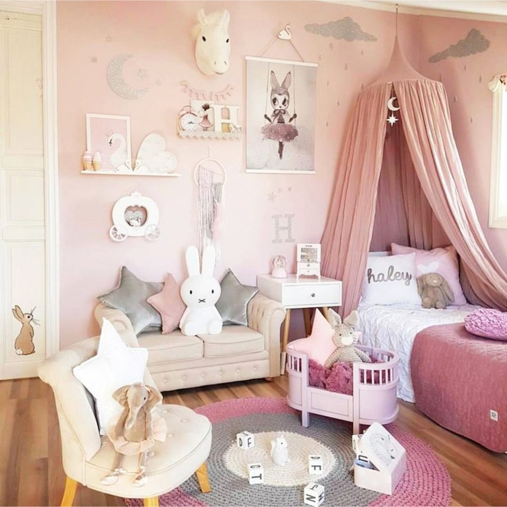 Bedroom Theme Little Girl Bedroom Ideas And Adorable Canopy Beds For