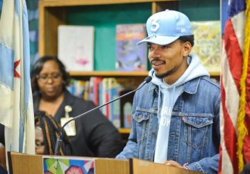 chance the rapper visits career day at chicago public school