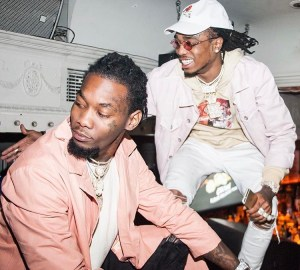quavo and offset try to jump man twice their size
