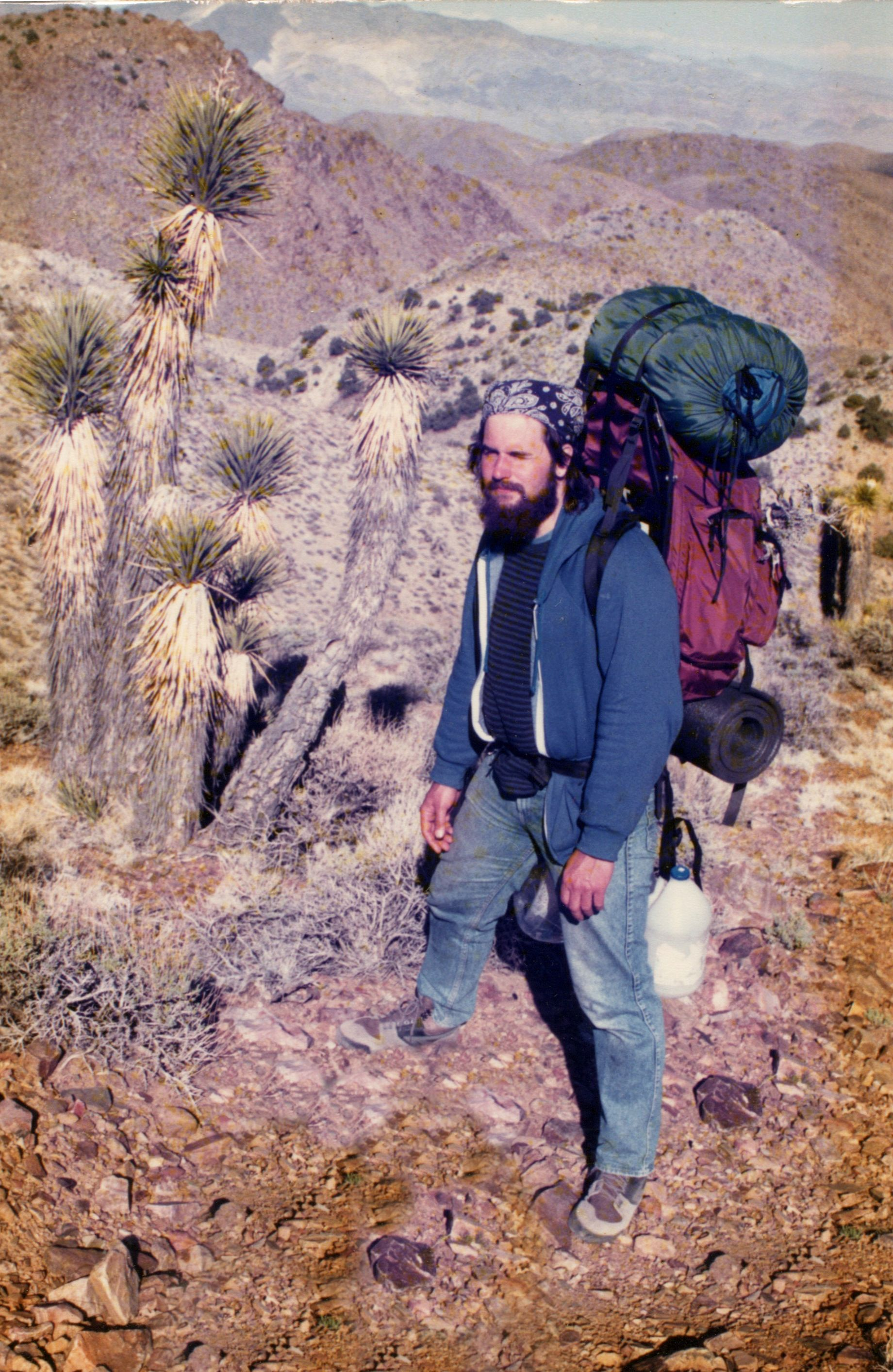 That's me in the Inyo Mountains, circa 1988.