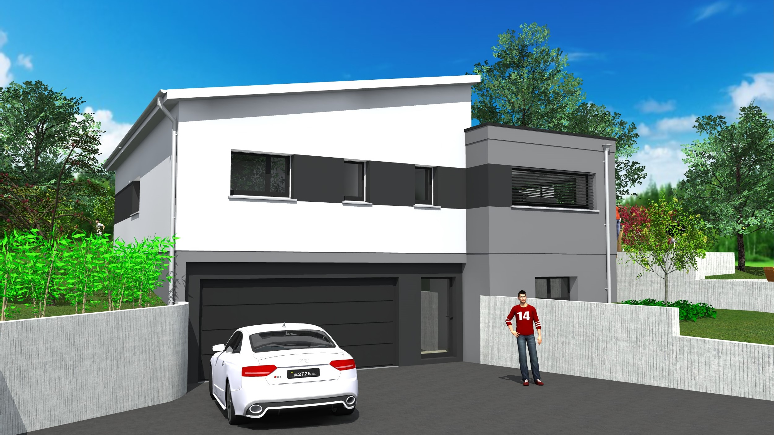 Moderne Garage | Puerto Naos First Line Modern Apartment 3 Bedrooms Roff
