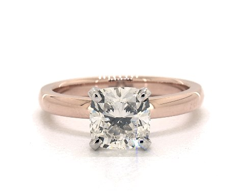 202 Carat Cushion Modified Cut Solitaire Engagement Ring