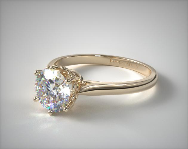 18k Yellow Gold Spring Blossom Six Prong Solitaire