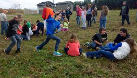 middle school kids playing