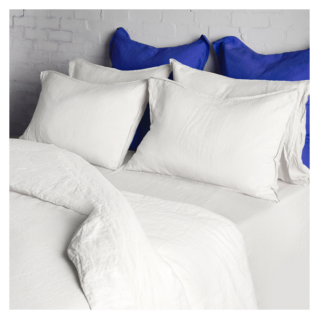 How Big Is A Super King Bed Linen Duvet Cover Super King Size White The Conran Shop
