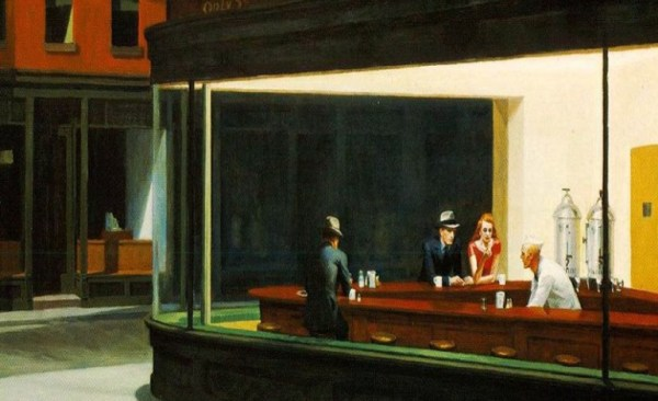 "Edward Hopper, ""Nighthawks"" - I Nottambuli (1942), Art Institute of Chicago"