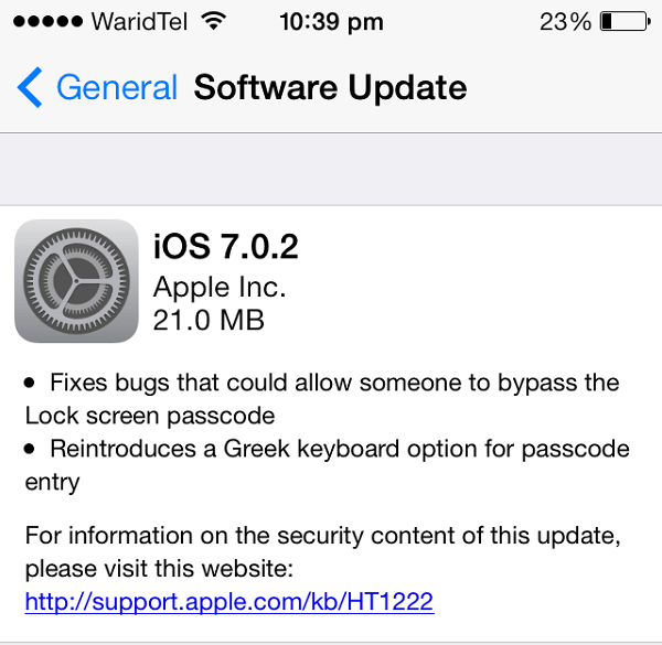 ios 7.0.2 release