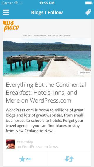 wordpress ios 7