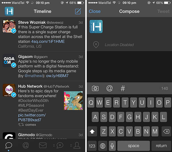 Tweetbot night theme