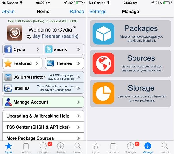 Cydia iOS 7