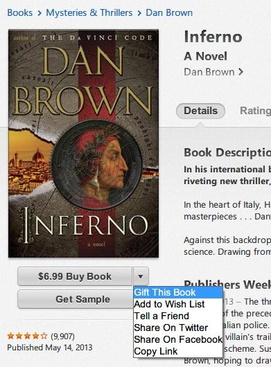 iBooks gifting