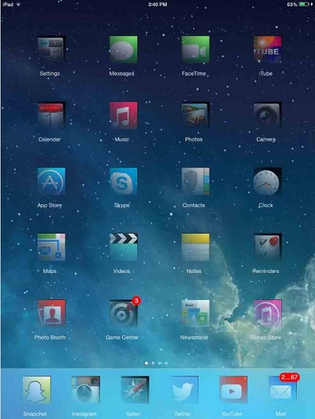 Fantasma per iPad - tema