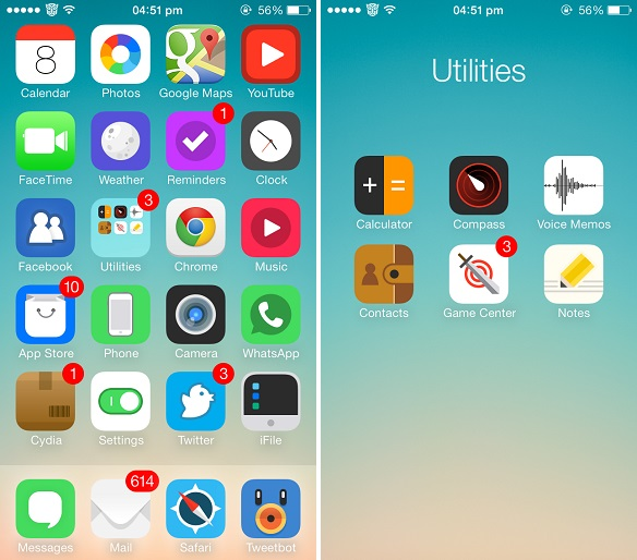 Five Gorgeous Themes for iOS 7 that replace its icons
