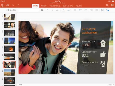Microsoft PowerPoint iPad 1