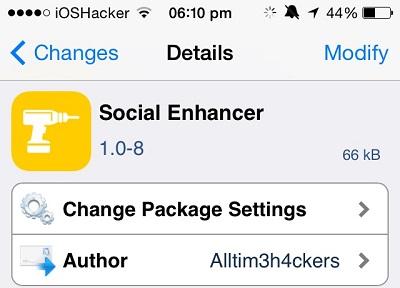 Social Enhancer tweak