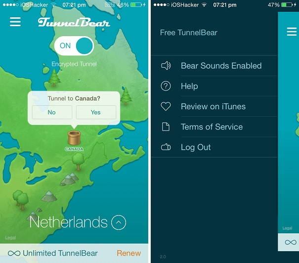 TunnelBear VPN iOS 1
