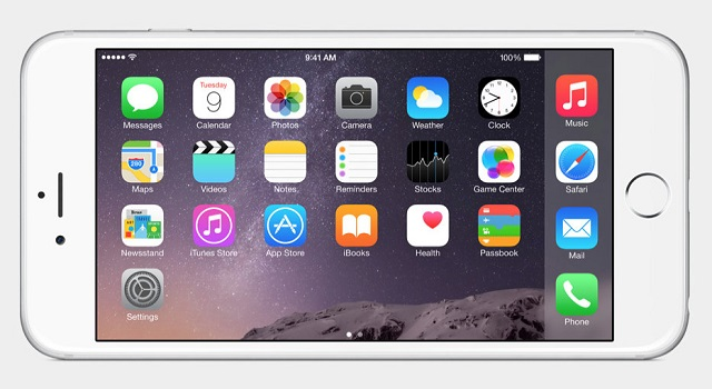 iPhone 6 plus landscape