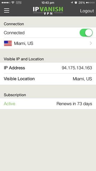 IPVanish VPN iOS 1