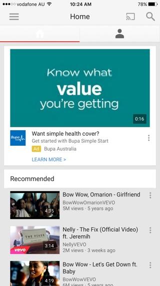 Youtube Original tweak