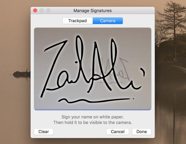 Mac Preview Signature