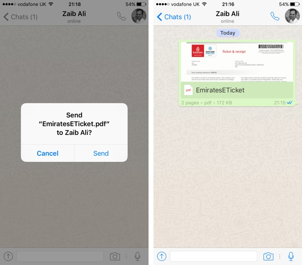 WhatsApp PDF Share iOS 3