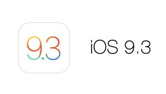 iOS 9.3: tercera beta disponible para desarrolladores