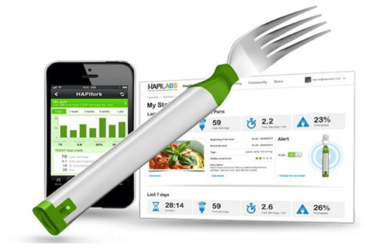 HAPIfork IoT Fitness tracker device