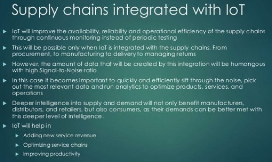 IoT intergrated with supply chain