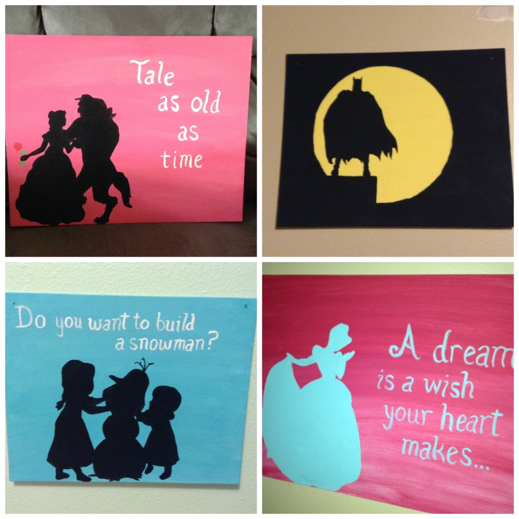 Silhouettes Diy Kids Rooms On A Budget